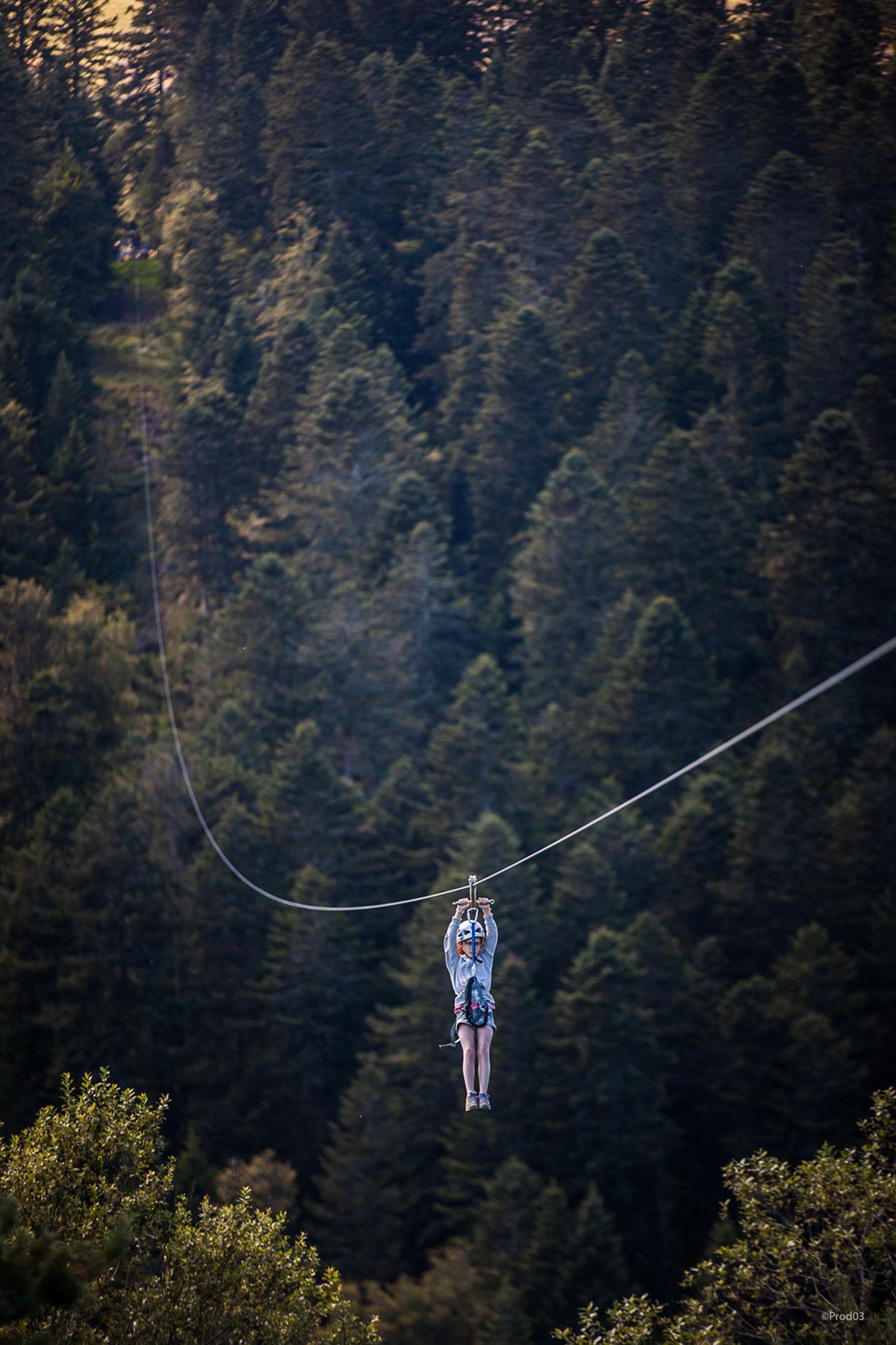 praboure parc activite montagne photo balades tyrolienne géante