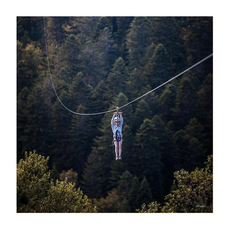 parc activité montagne prabouré tyrolienne géante